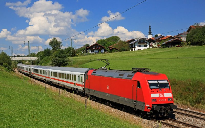 EuroCity | Trains in Europe | Train running through the country