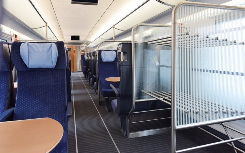 Trains to & from Brussels - Interior DB BAHN trains