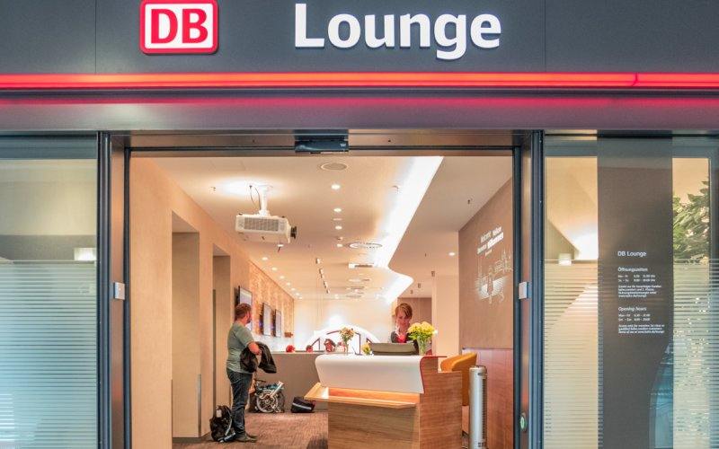 Business lounge op het station