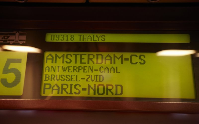 Trains to & from Amsterdam - Thalys from Amsterdam to Paris