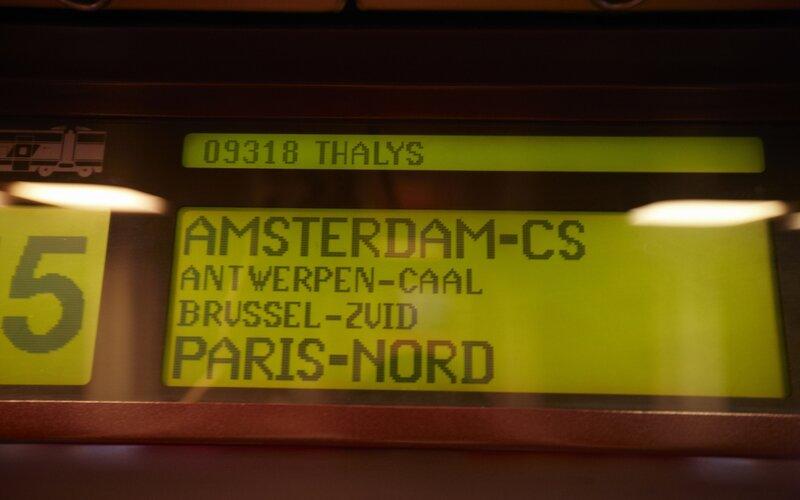Treinen van en naar Amsterdam - Thalys van Amsterdam naar Parijs