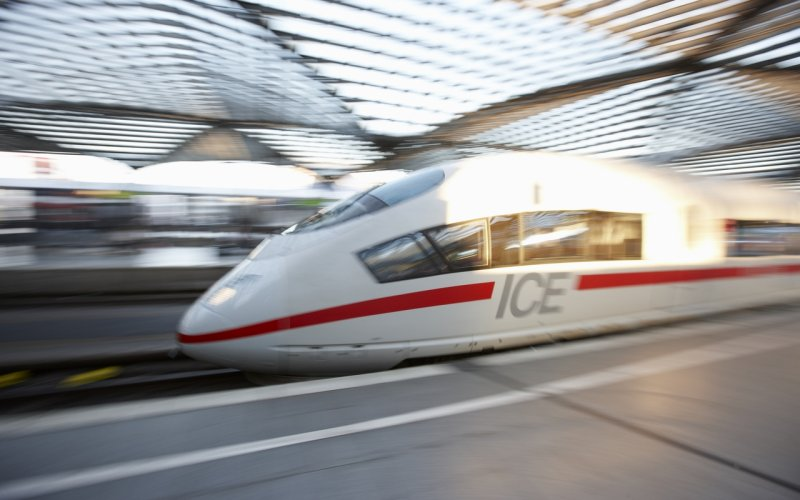 Trains to & from Brussels - ICE International speeding through Liege Guillemins