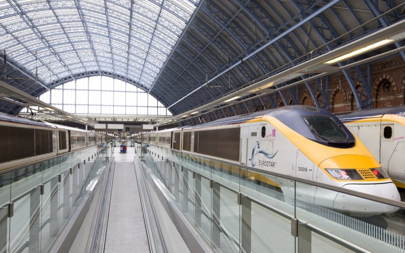 Trains London to Brussels - Eurostar station