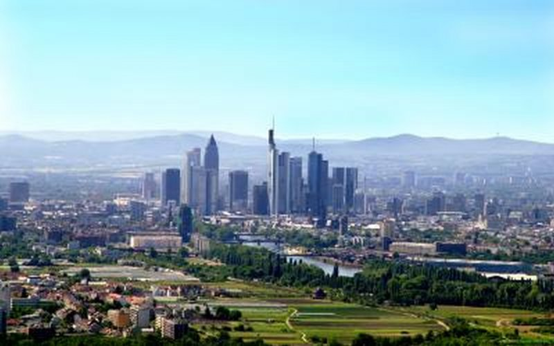Trains to & from Frankfurt | Aerial view of Frankfurt am Main