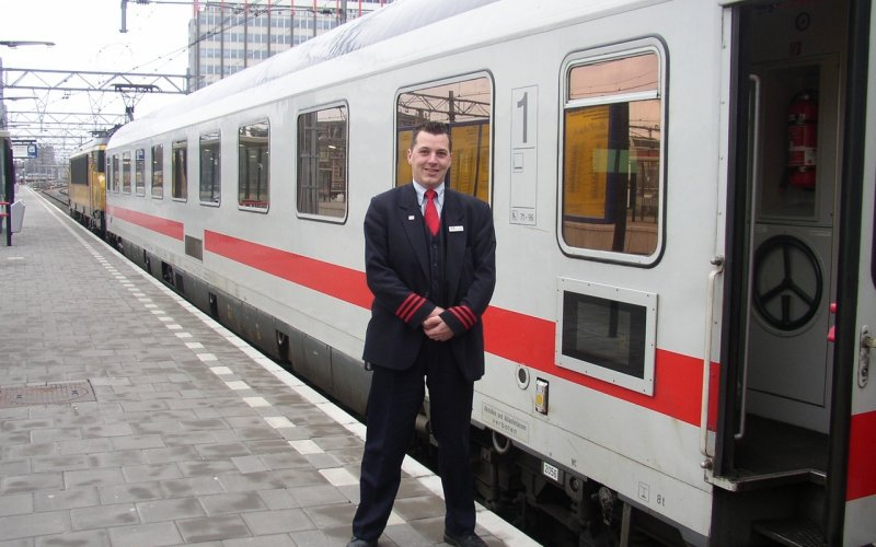 Trains Berlin to Prague - Intercity ticket inspector