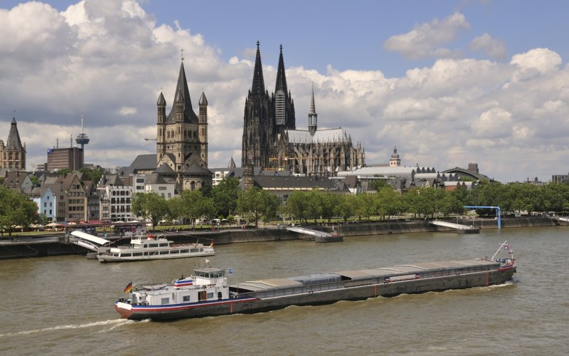 Trains to & from Cologne | Cologne river front