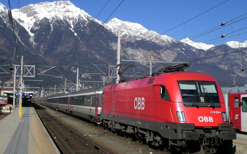 EuroNight | Trains in Europe | Running through the Alps