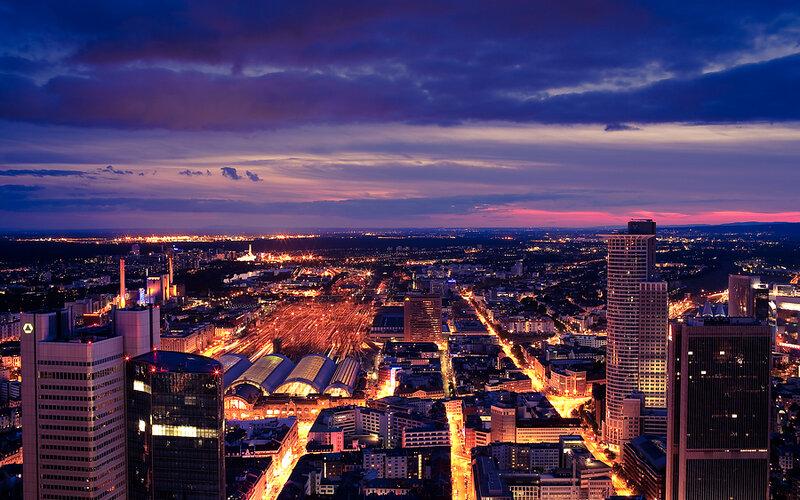 Trains to & from Frankfurt | Aerial view of Frankfurt am Main