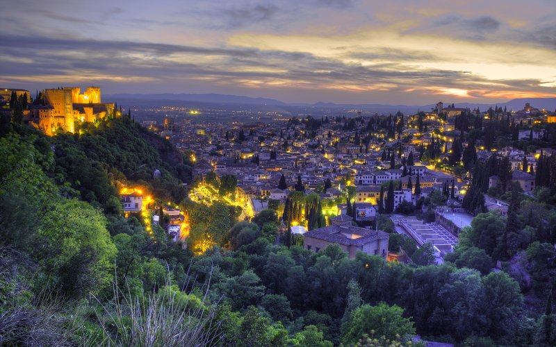 Trains to & from Granada | City view