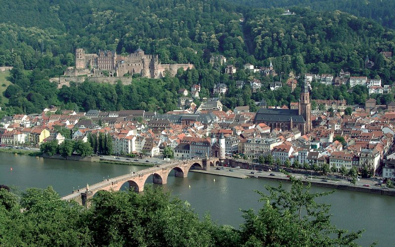 Trains to & from Heidelberg | City panorama