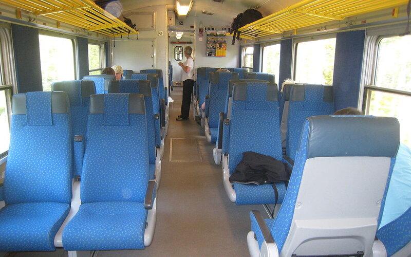 Inlandsbanan | Trains in Sweden | 2nd class interior
