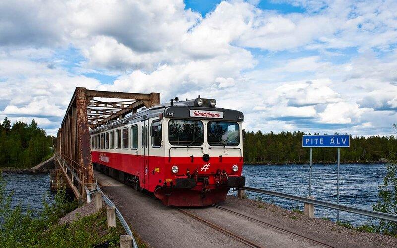 Inlandsbanan | Trains in Sweden | Crossing the Pite Aelv