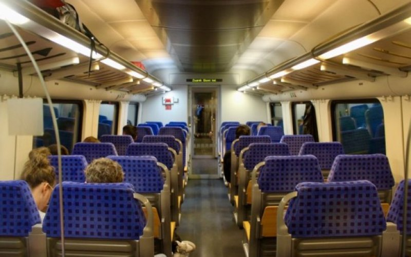 InterCity Croatia | Trains in Croatia | 2nd Class interior