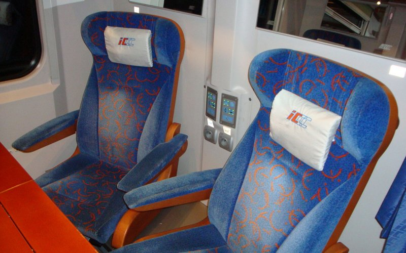 Express InterCity Poland | Trains in Poland | Interior 1st class conference room