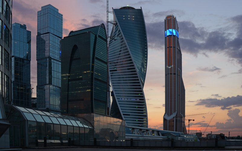 Trains to & from Moscow | Moscow modern buildings