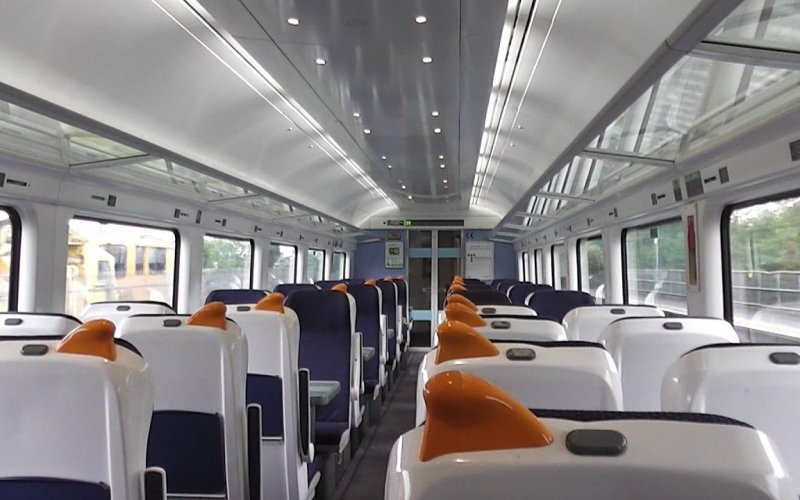 Train Reservations in Ireland | All Reservations & Passes | Irish Rail 2nd class interior