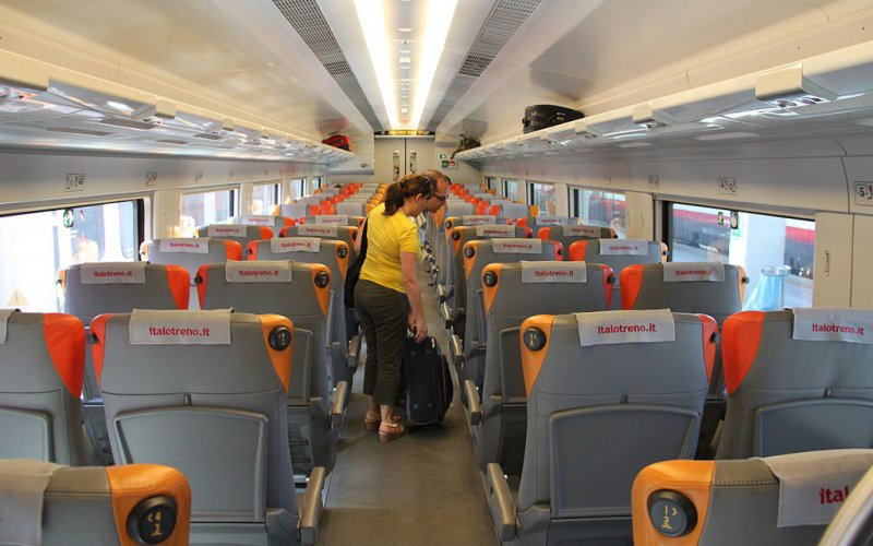 Italo | Trains in Italy | 2nd class interior