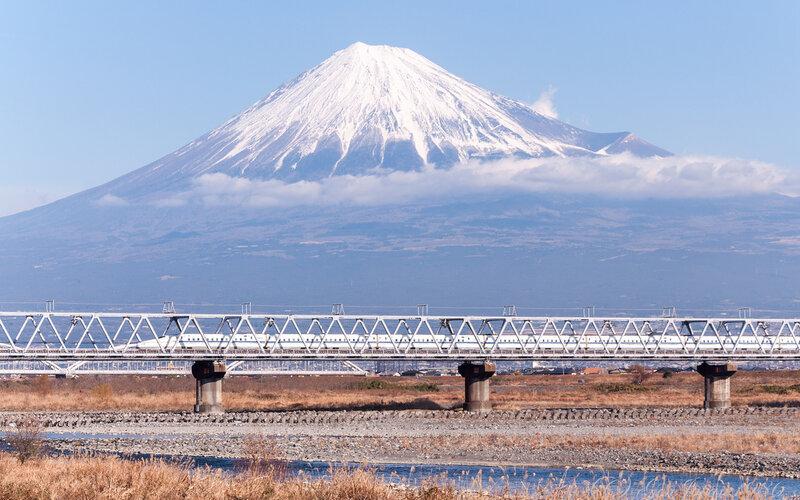 Train Travel in Asia | Travel in Japan by Shinkansen, Mount Fuji