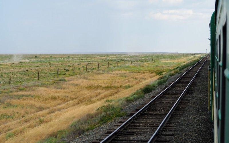 Train Travel in Asia | Jump on board the train crossing the Kazach steppe