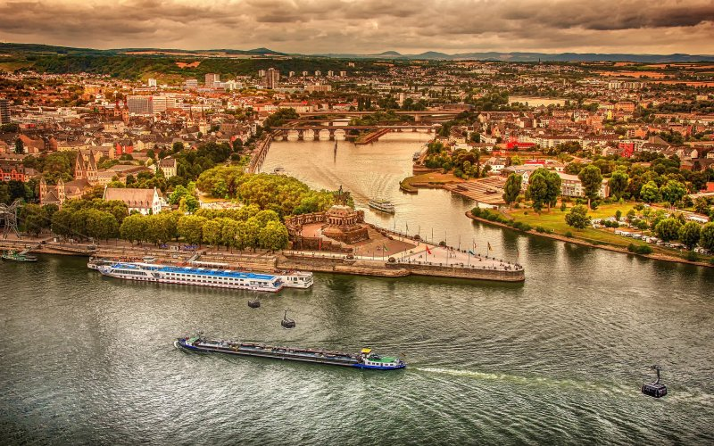 Trains to & from Koblenz | The German Corner, where rivers Moselle and Rhine meet