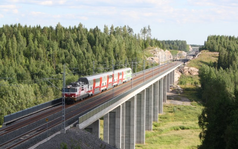 InterCity Finland | Trains in Finland | Viaduct in Finland
