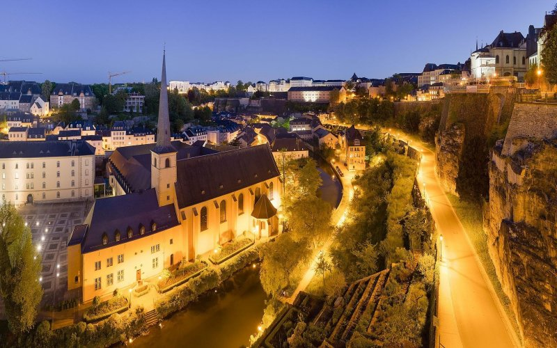 Luxembourg City by night - All train tickets and rail passes
