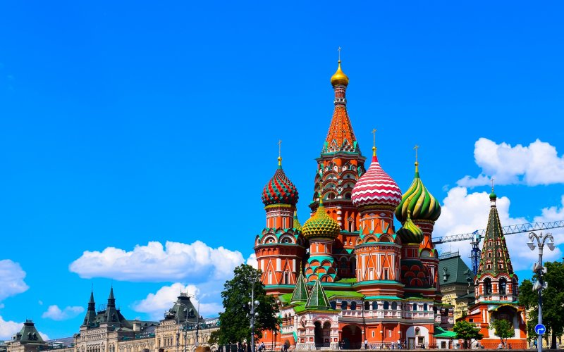 Trains to & from Moscow | Moscow St Basil Cathedral