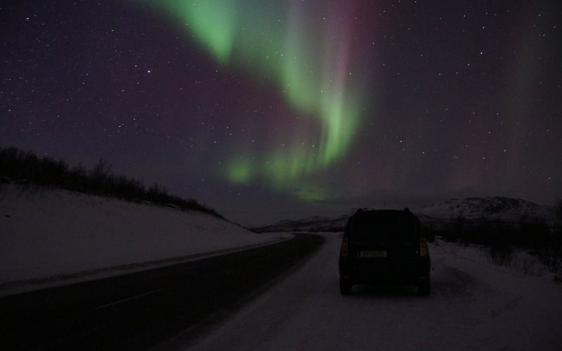 Trains to & from Abisko | Northern lights