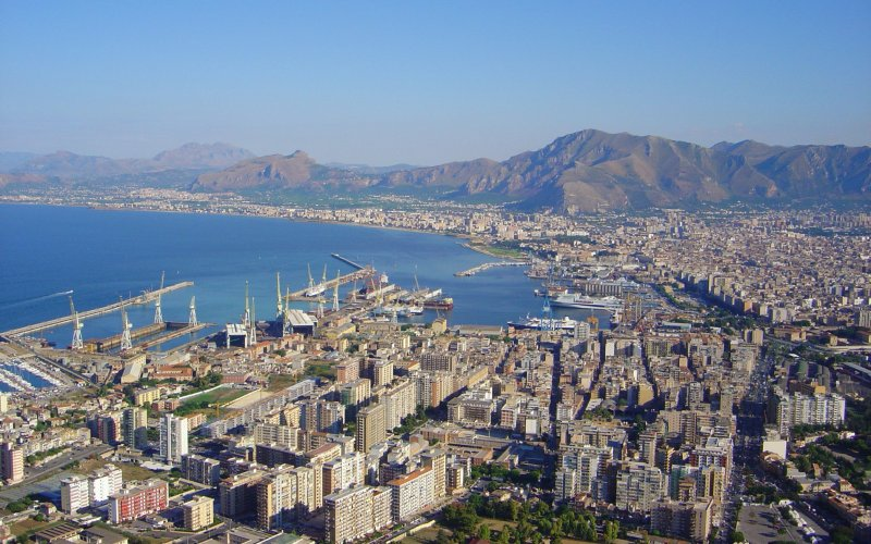 Trains to & from Palermo | Birds eye view of Palermo