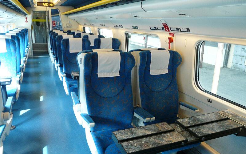 SuperCity Pendolino Czech Republic | Trains in Czech Republic | Interior 2nd class