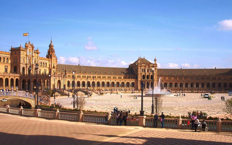 Trains to & from Seville | Plaza de Espana in Seville