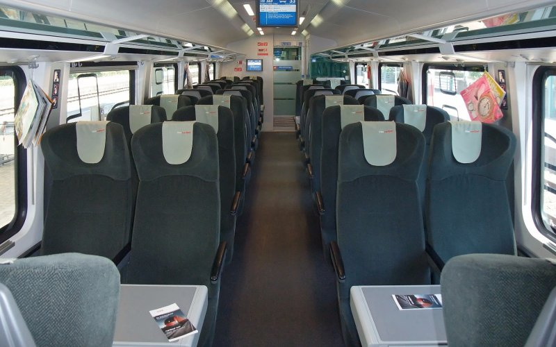 Trains in Austria - Standard class on the Railjet - All train tickets and rail passes