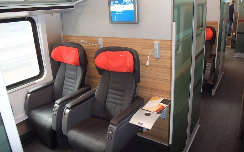 Train Reservations in Austria | All Reservations & Passes | RailJet interior premium class