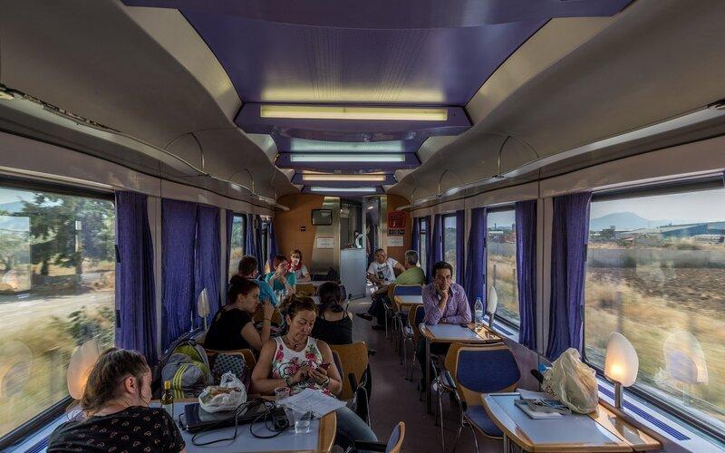 Night Train Greece | Trains in Greece | Restaurant car