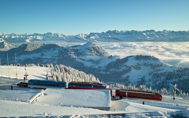 Rigi Kulm - Switzerland - Scenic trail routes -Winter