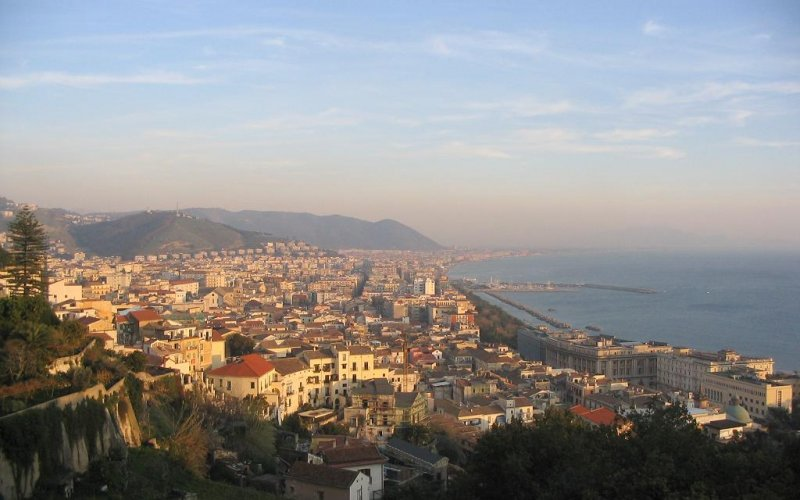 Trains to & from Salerno | Salerno birds eye view