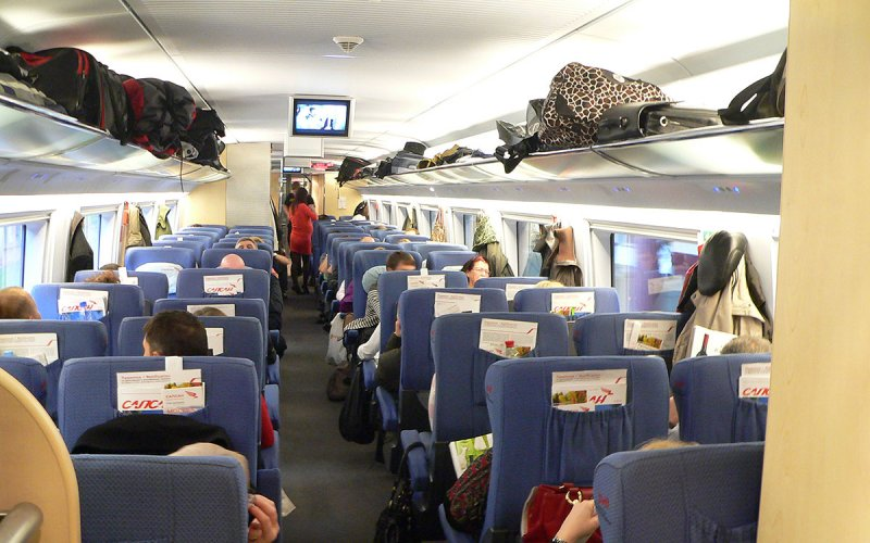 Sapsan | Trains in Russia | 2nd class interior