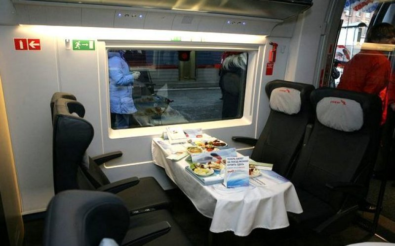 Sapsan | Trains in Russia | Catering on board