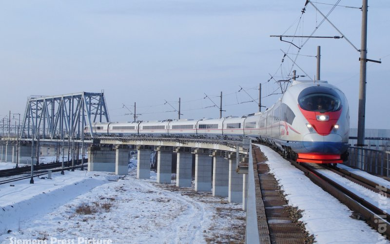 Sapsan - High Speed Train Moscow St Petersburg