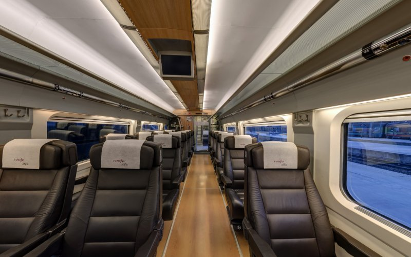 Trains to & from Barcelona | AVE 1st class interior