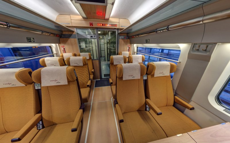 Trains to & from Barcelona | AVE 2nd class interior
