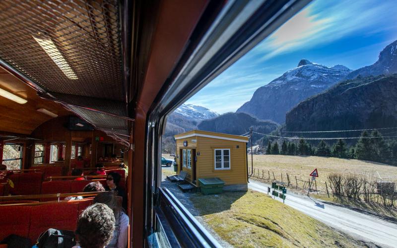 Trains Myrdal to Flam - Flam Line / Flamsbanen