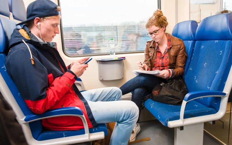 Train Reservations in The Netherlands | All Reservations & Passes | NS Sprinter 2nd class interior