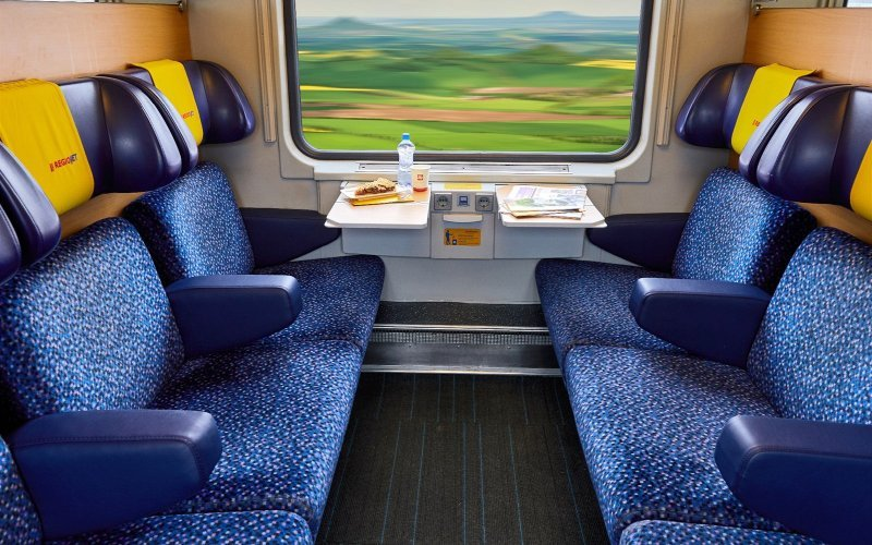 Trains Prague to Vienna - Regiojet Standard Class