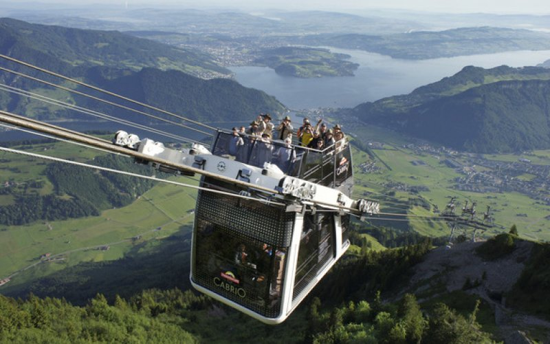 CabriO Stanserhorn - Cableway Switzerland - Swiss Travel Pass