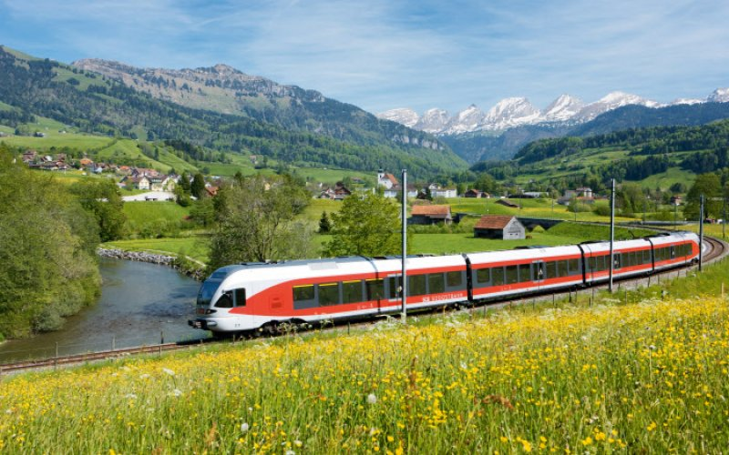 Trains in Switzerland | Swiss Travel Pass | Train in the Alps
