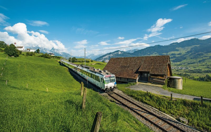 Trains in Switzerland | Swiss Travel Pass | Train in the country side