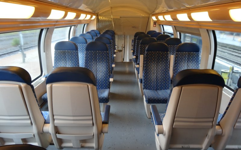Trains Express Régional | Trains in France | 2nd class interior