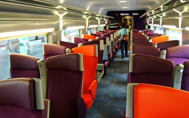 Train Reservations in Belgium | All Reservations & Passes | Interior 2nd class TGV