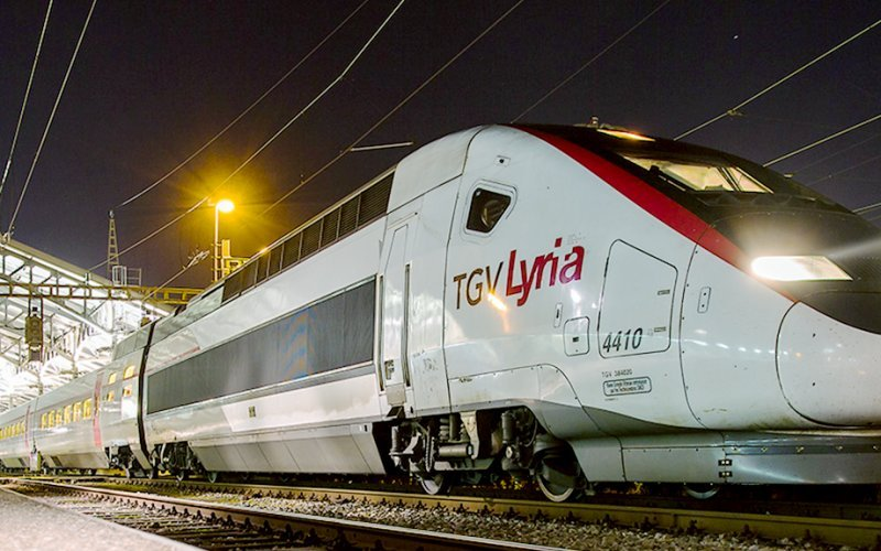 TGV Lyria | Trains in France | Train departing for its route through France